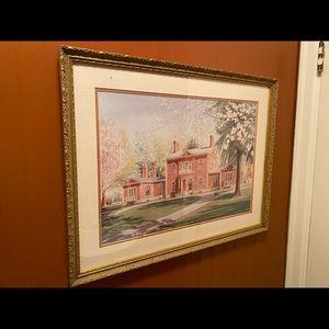 vintage ashland henry clay print watercolor